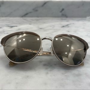 Oliver peoples cat eye mirrored sunglasses